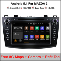 8 Inch1024 600 Quad Core Android 5 11 Car DVD GPS For MAZDA 3 2010 2013