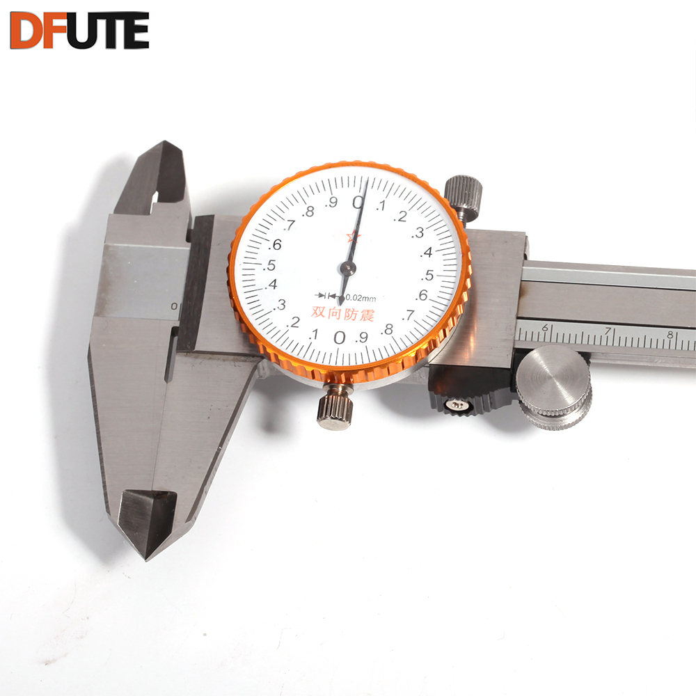 DFUTE Stainless Steel l 6-Inch 0 - 150mm Dial Digital Vernier Caliper Gauge Micrometer Measuring Tool Measuring Ruler 0.02mm