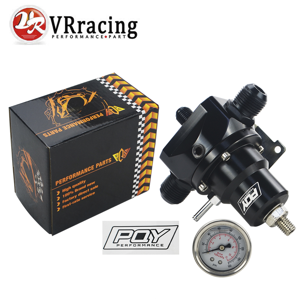 AN10 PQY EFI Fuel Pressure Regulator ( With 0-160psi Gauge ) -10AN 10/10/6 Inlet & Return Ports For BMW E30 M20 6cy PQY sticker