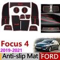 Anti-Slip Tor Slot Matte Gummi Bahn für Ford Focus 4 MK4 Fokus 2019 2020 2021 ST RS Zubehör auto Aufkleber 10 Pcs Fokus IV