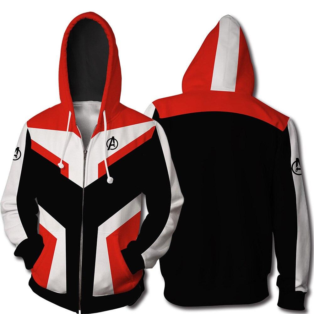 Avengers Endgame Quantum Realm Sweatshirt Jacket Advanced Tech Hoodie Cosplay