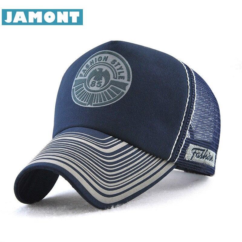 Jamont Fashion Mesh Cap Summer Snapback Hat Men Women