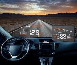 XYCING X5 3 дюймов HUD автомобилей Head Up Дисплей OBD2 вождения автомобиля Скорость ometer лобовое стекло автомобиля проектор KMH миль/ч Дисплей скорость ...