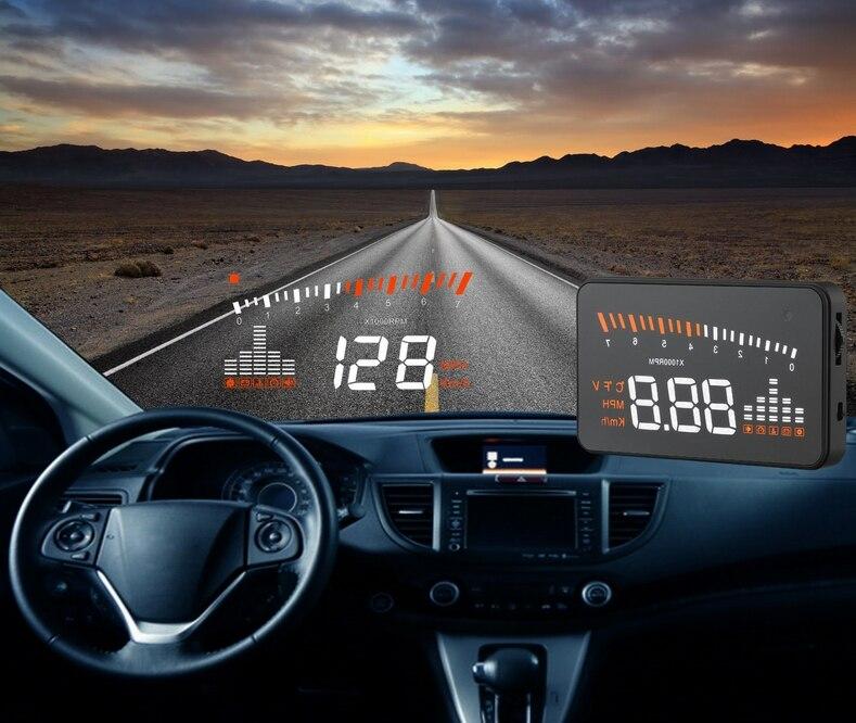 XYCING X5 3 zoll HUD Auto Head Up Display OBD2 Fahrzeug Fahren Tacho Auto Windschutz Projektor KMH MPH Display Geschwindigkeit alarm