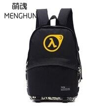 Black Nylon backpack half life backpacks game fans daily use big backpack school bag for student NB135 цены онлайн