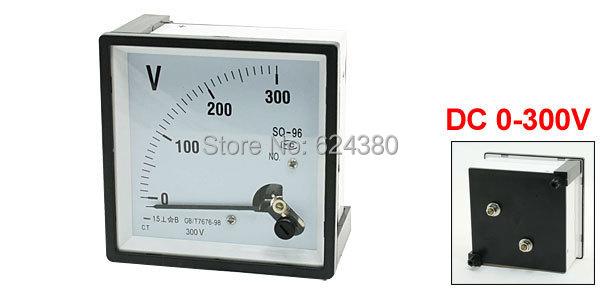 Аналоговая Панель, вольтметр, измеритель напряжения, вольтметр, измеритель SQ-96 96*96 мм, постоянный ток 0-300 в 300 в