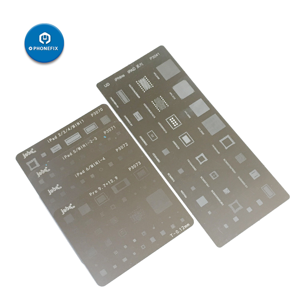 For Ipad 23456 Mini1234 Pro Motherboard IC Chip Ball Soldering Net Stainless Steel Plate BGA Reballing Stencil Soldering Repair
