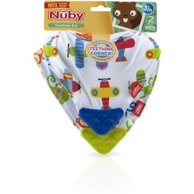 DDI 2276616 Nuby?Bandana Teething Bibs, Blue/Green 2-Pack Case of 72 miracool neck bandana re usable 100 s of times keeps you cool red 2 pack