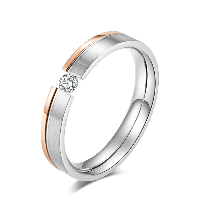 Rose Gold Silver Color Ring...