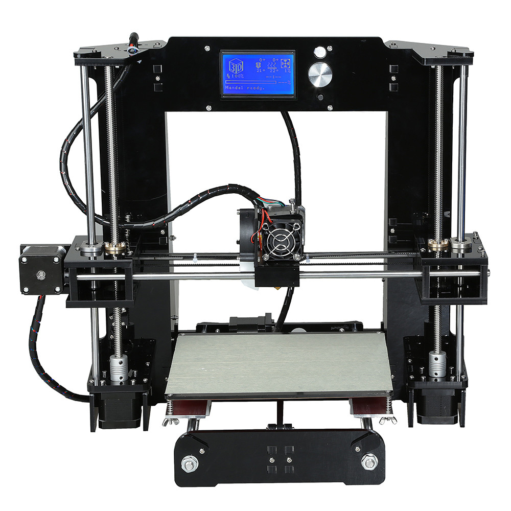 2016 High Quality CNC 3D Printer Easy Assemble Reprap prusa i3 3D printer Kits With Free 20m Test Filaments Support refitting