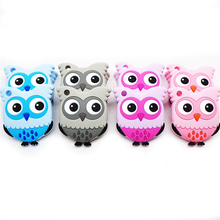 Chenkai 10PCS Silicone Cartoon Owl BPA Free Teethers Pendants Baby PendantsToys Teether