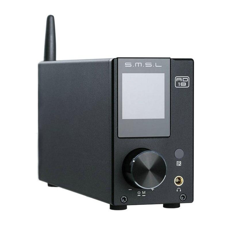 SMSL AD18 HIFI Bluetooth 80W*2 CSR A64215 DSP Pure Digital Audio Amplifier Optical/Coaxial USB DAC Decoder With Remote Control fx audio dac x6 hifi 2 0 digital audio decoder dac input usb coaxial optical output rca amplifier 16bit 192khz dc12v