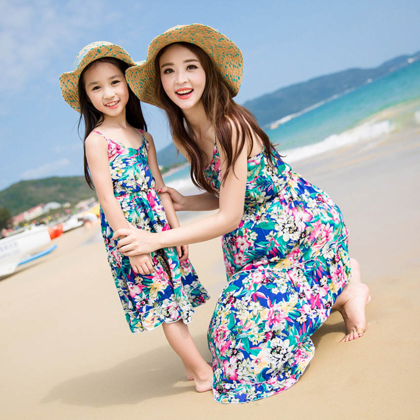 e466e99506 Mother Daughter Beach Holiday Party Matching Long Maxi Dress For Women Baby  Girl Girls' Clothing (Sizes ...