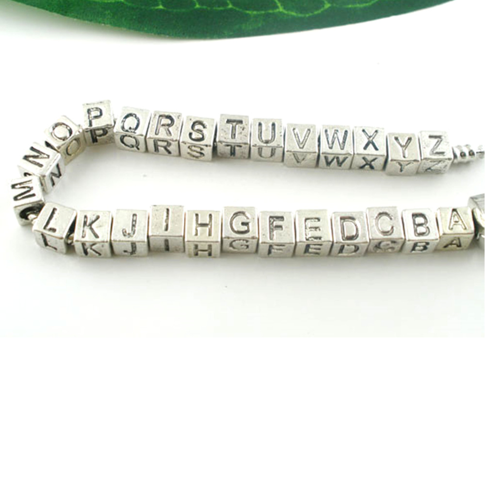 26 Alphabet Letter Charms Pendant Beads Findings Jewellery Making Pack of 52