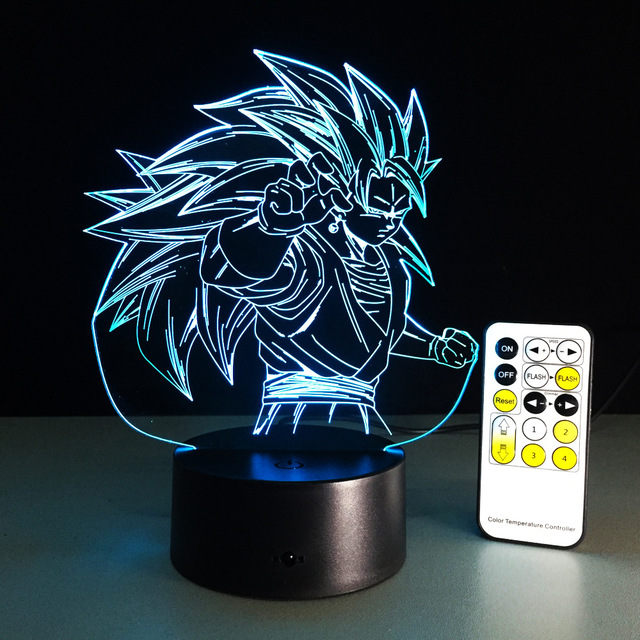 Goku Super Saiyan 3 Usb Changing Colors Lamp.