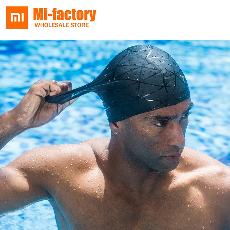New Xiaomi 7th Frosted Silicone Swimming Cap High Quality High elasticity Not hurting hair professional Man Woman Swim Pool Hat