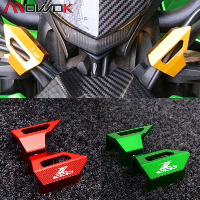 Motorcycle Front Brake Clutch Line Hose Clamp Holder For KAWASAKI Z1000 2010-2015 2016 CNC Cable Clip Clamps Brake Cable Clip