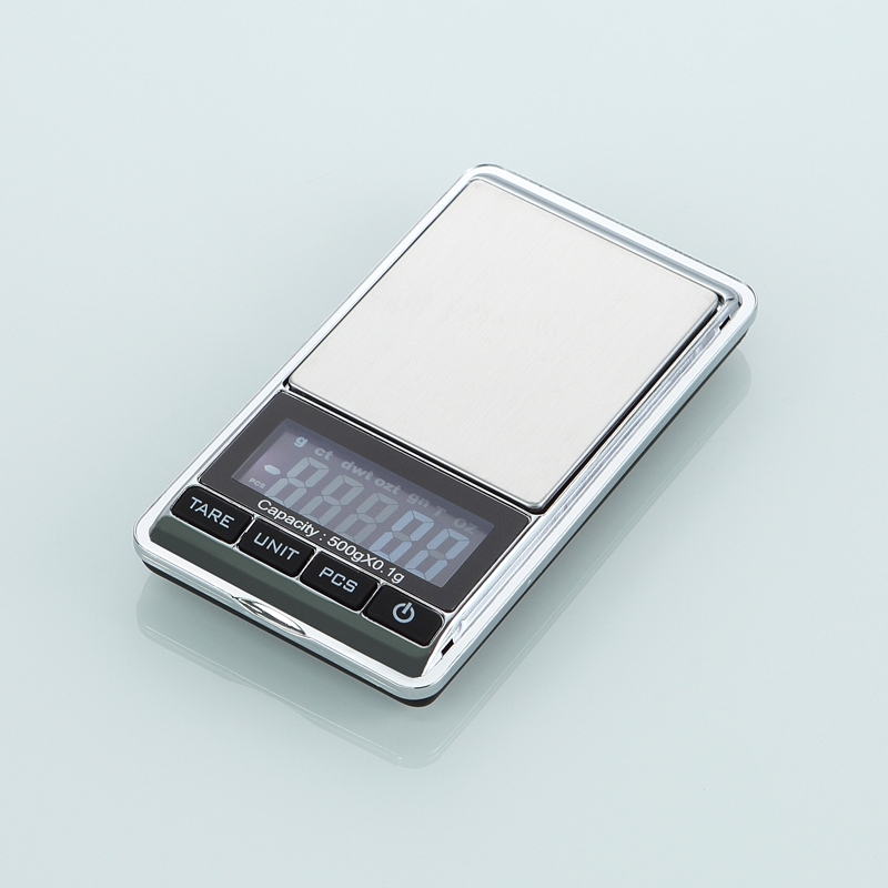 500g 0.1g Digital Jewelry Scales 500g 0.1 Electronic Kitchen Gram Scale Precision Pocket Lab Weight Balance PCS Tare Function