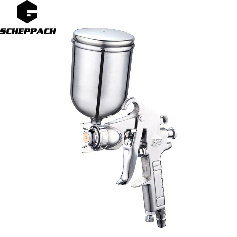 SCHEPPACH 400ML Professional Pneumatic Spray Gun Airbrush Sprayer Alloy Painting Atomizer Tool With Hopper For Painting Cars free shipping w71 s siphon spray gun sprayer air brush alloy paint tool professional pneumatic furniture for painting car home