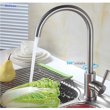 Dofaso 304 stainless steel kitchen faucet cold and hot cook house water taps