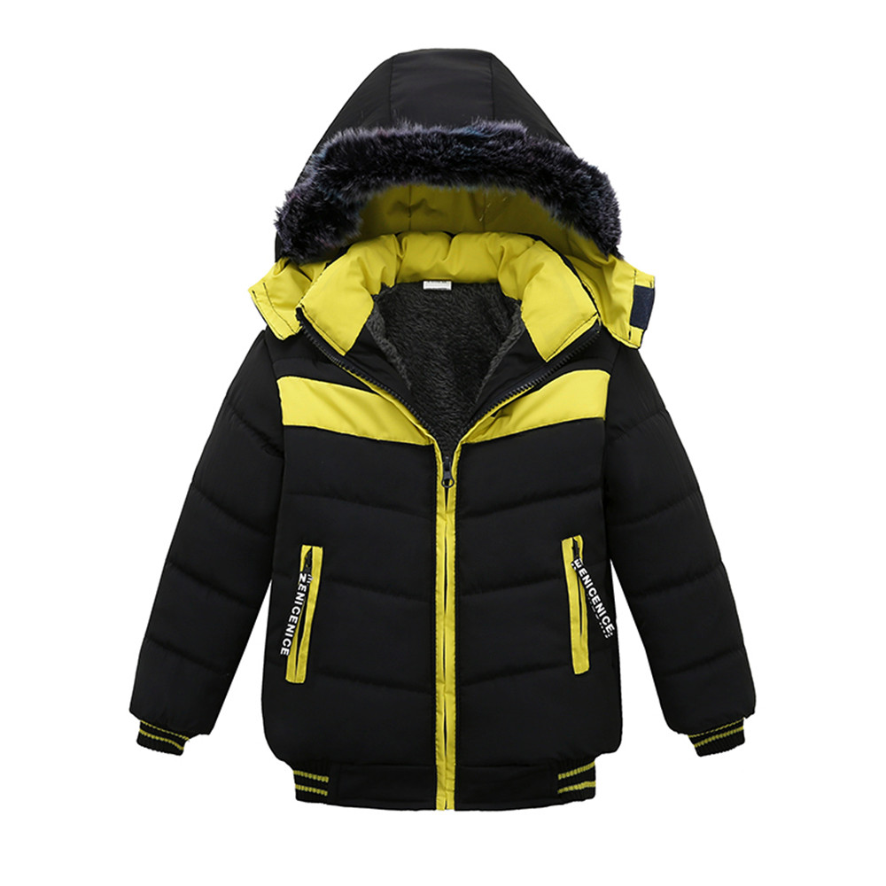 Jacket Outerwear Hoodie Coats Zipper Warm Boys Winter Thick Chlidren New-Fashion Kid