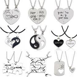 2 шт ожерелье лучшие друзья ювелирные изделия Инь Ян кулон для Тай Чи пары парные ожерелья и подвески унисекс влюбленные подарок на день Свя...