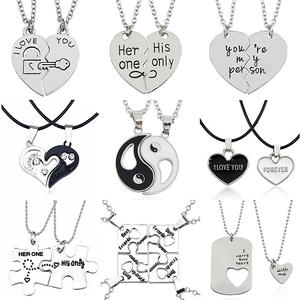 HUMANO FINO 2 PCS Best Friends Jewelry Necklaces Pendants