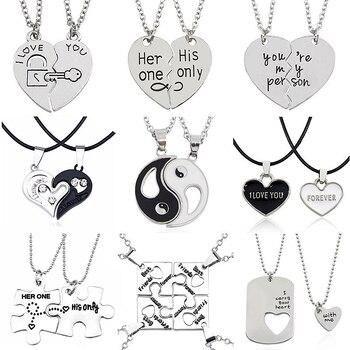 Bijoux Yin Yang Tai Chi colliers mieux amis pendentifs jumel s pour Couples unisexe amoureux cadeau