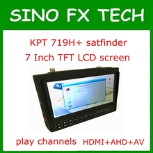 7 inch Portable widescreen Satellite finder & Monitor kpt-719H+ play dvb s2 channels