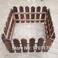 Carbonized wood fence wood preservative garden decorative garden fence balcony guardrail fence 25cm high