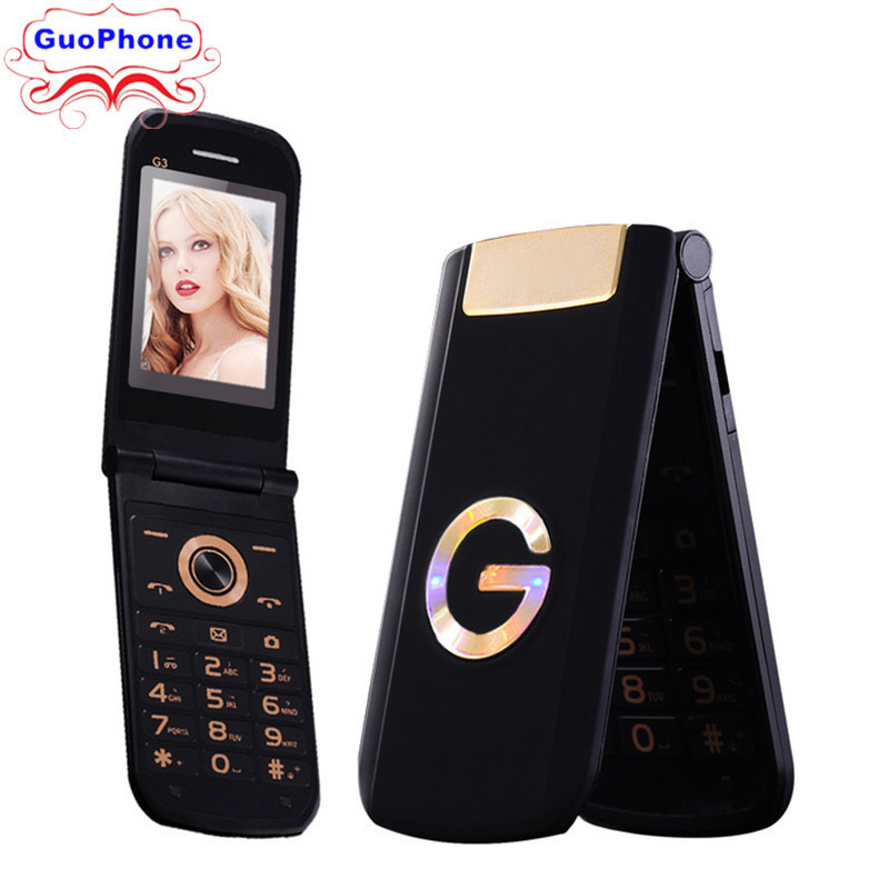 TKEXUN G3 G9000 Women Flip Phone With Camera Dual Sim Card 2.4 inch Touch Screen Luxury Cell Phone