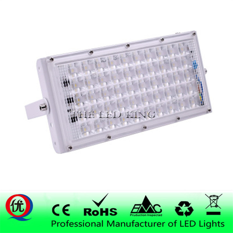 LED Flood Light 50W Outdoor Floodlight Waterproof IP65 Wall Reflector Lighting 220V 240V Street Lamp Spotlight-in Floodlights from Lights & Lighting