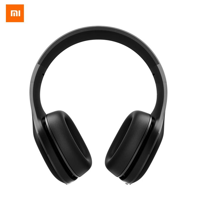 Original Xiaomi Mi Bluetooth Headphones 4.1 Version Wireless Bluetooth Earphone apt-X 40mm PU Headset For Mobile Phone Computer mi headphones comfort white