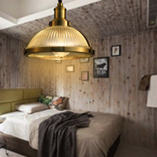 Lámpara colgante clásica Retro industrial Americano europeo E27/E26 Edison lámpara colgante de cristal metálico para dormitorio comedor