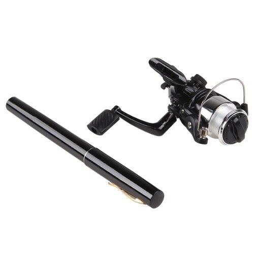 3 Pcs of (FAAJ Good Deal Mini black pen fishing rod kits)