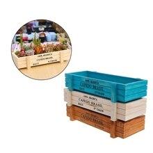 Maceta para planta de jardín Vintage, maceta de madera para jardín, maceta suculenta, caja rectangular, lecho de planta AUG25