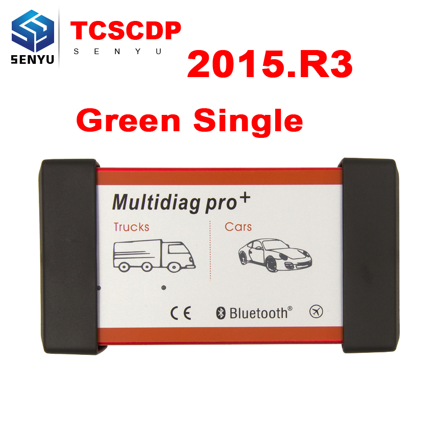 Цена за Multidiag Pro + 2015. R3/2014. R2 один зеленый pcb OBD2 инструмент диагностики OBD TCS CDP OBDII сканер для автомобилей/грузовых автомобилей-детектор