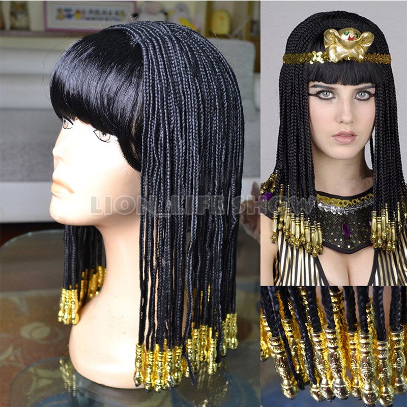 Egyptian Cleopatra Nightclub Show Costume Wig