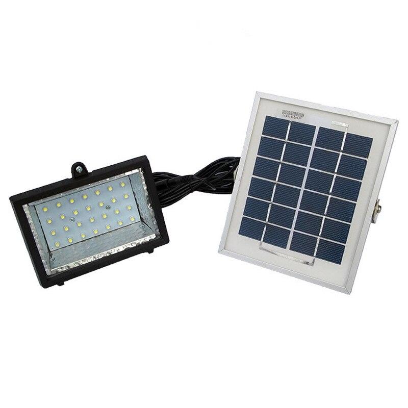 28led solar holofote 6 v 2 w painel solar lampada de parede de luz de inundacao