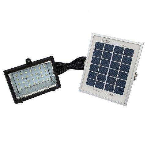 28led solar holofote 6 v 2 w painel solar lampada de parede de luz de