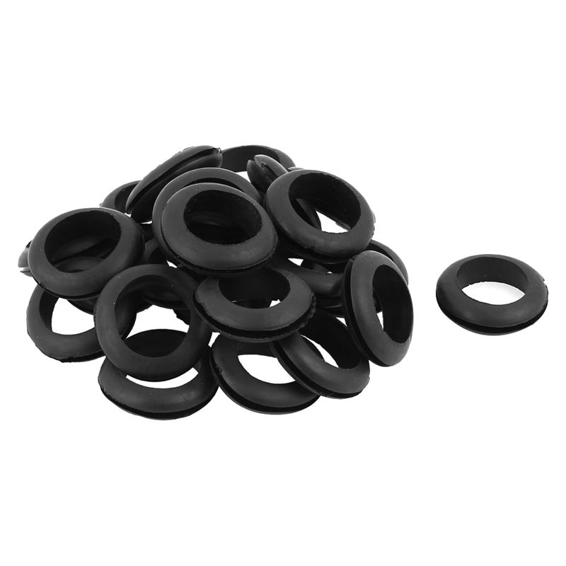 22mm Dia Rubber Wire Grommets Gasket Ring Cable Protector 25Pcs обложки для документов narvin 9150 n polo silver