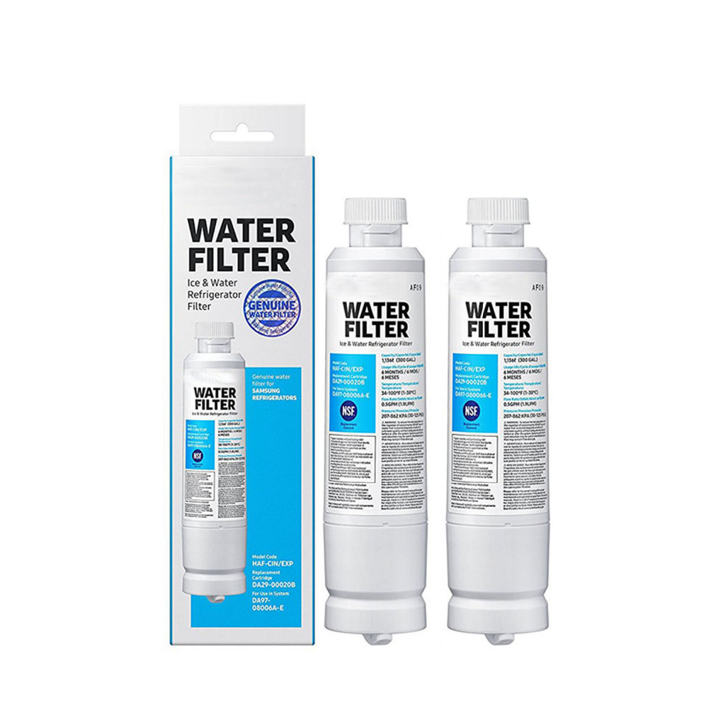 NEW Refrigerator Water Filter Replacement Activated Carbon Reverse Osmosis Cartridge Filters for Samsung DA29-00020B 2 Pcs/lot