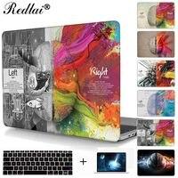 Per Macbook Pro 13 15 Caso 2016 modello A1706 A1707 Tocco bar Sinistra Cervello Destro e Copertura Dura di Caso Per Mac book Air Pro Retina 13