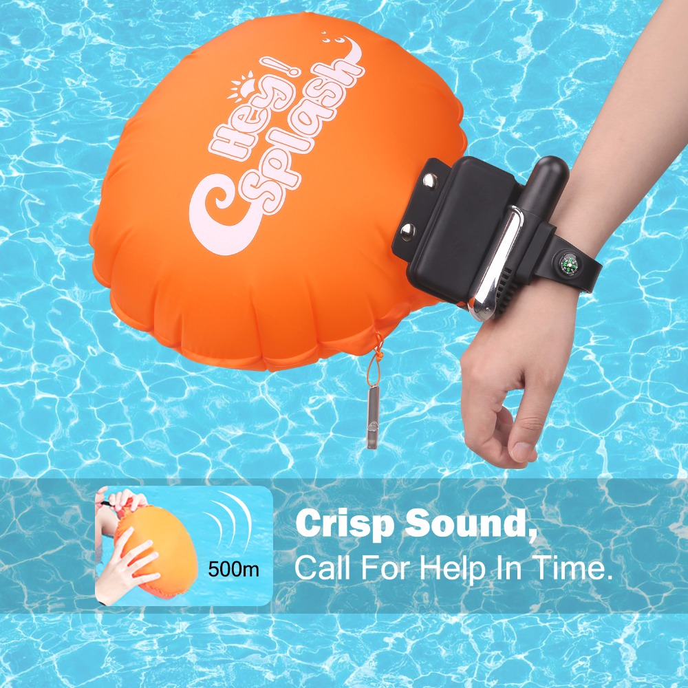 Float Wristband Portable Rescue Device Inflatable Swimming Safety Device Water Buoyancy Aid Device for Adult Kids