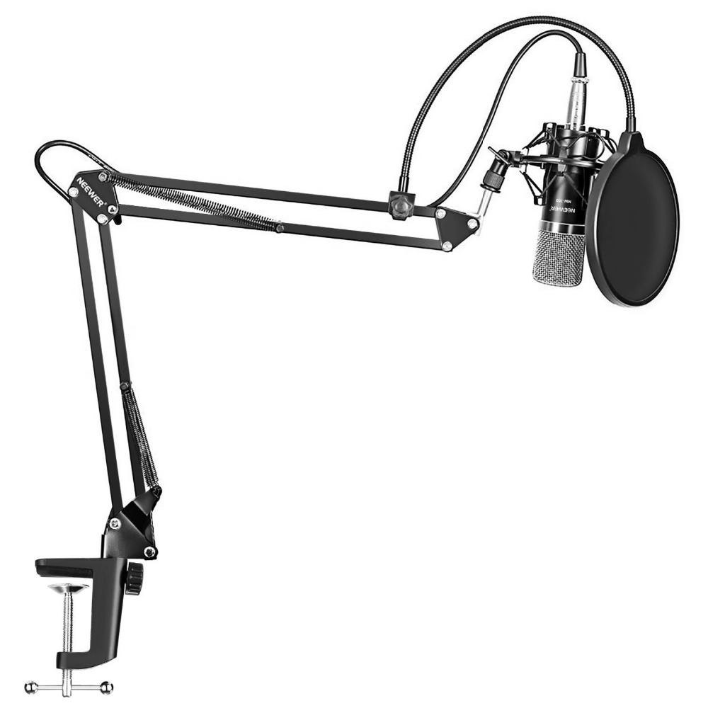 цена на Neewer Professional Studio Broadcasting Recording Condenser Microphone&Arm Stand with Shock Mount and Mounting Clamp Kit