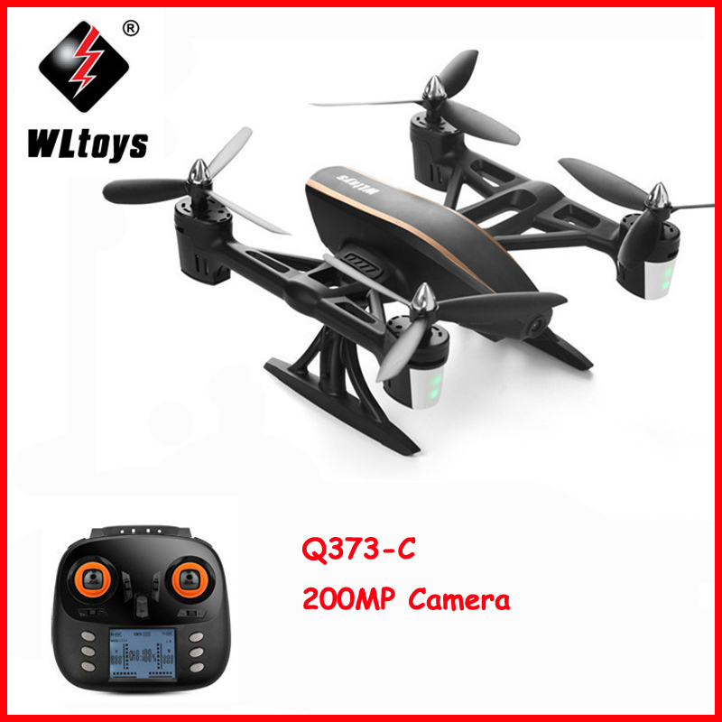 WLtoys Q373 RC Drone with Brush Motor 3D 4G Mode 4CH 6Axis Stunt RC Quadcopter Air Dancer Aircraft RTF with Wifi Camera Toys wltoys q222 quadrocopter 2 4g 4ch 6 axis 3d headless mode aircraft drone radio control helicopter rc dron vs x5sw