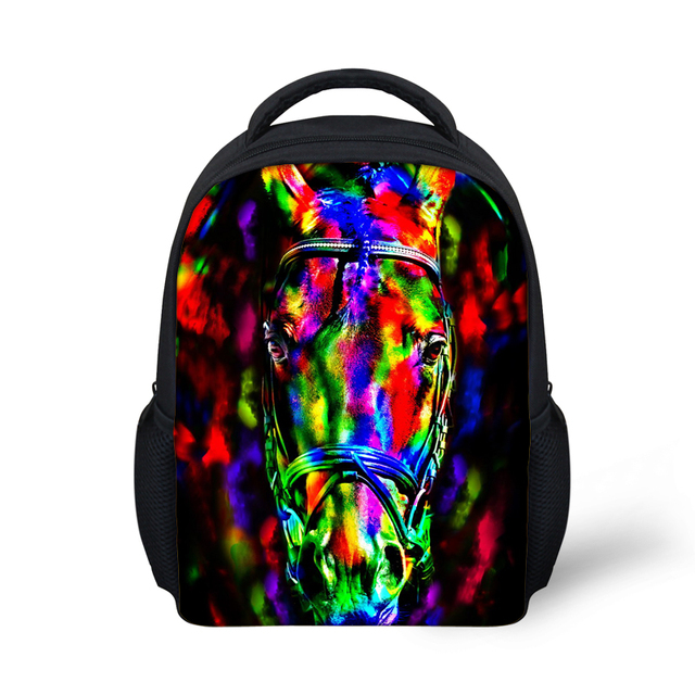 0d2d3aa31ee7 Novelty Gifts Owl Print Schoolbags for Boys Cool Animal Crazy Horse  Kindergarten Children School Bags Kids