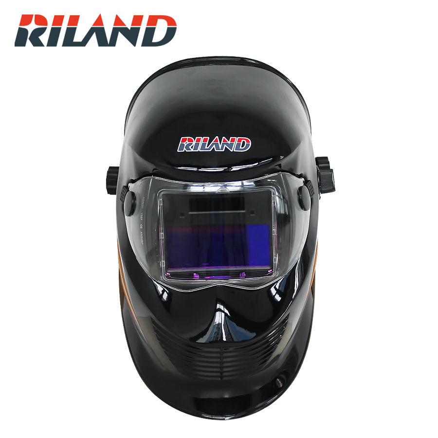 RILAND Feather Solar Auto Darkening TIG MMA ARC Welding Mask/Helmet/Welder Cap/Eyes Mask solar auto darkening electric welding mask helmet welder cap welding lens eyes mask for welding machine and plasma cuting tool