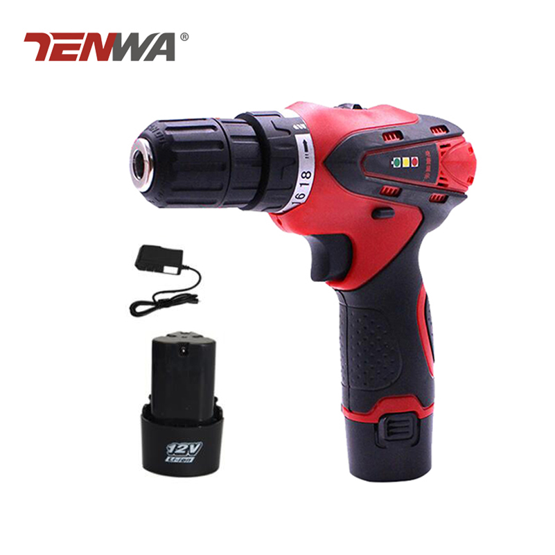 Tenwa 12V Electric Drill Electric Screwdriver Lithium Battery Rechargeable Parafusadeira Furadeira power tools Led light tenwa 12v electric screwdriver lithium battery rechargeable parafusadeira furadeira multi function cordless electric drill