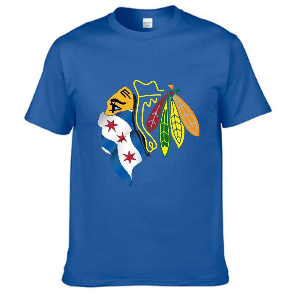 Design your own t shirt chicago - Peinted Chicago Blackhawks City Of Chicago Bandana T Shirt Mens Fashion 2016 Cotton Short Sleeve